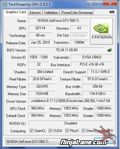 EVGA GeForce GTX560 Ti SuperClocked Video Card Review - Benchmarking