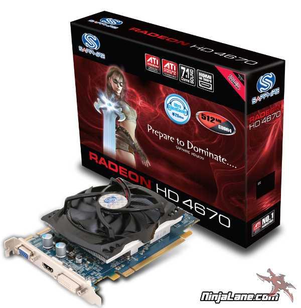 Sapphire Radeon HD 4670 Video Card Review   Ninjalane