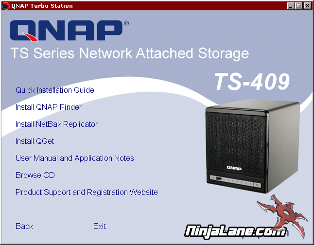 QNAP TS-409 Pro Turbo NAS Review - Included Goodies and Installation